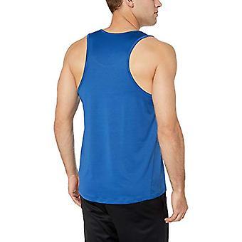 Essentials Menn's Tech Stretch Performance Tank Topp skjorte, Ekte Blå, XX-Stor