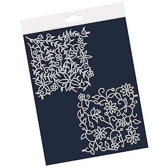 Claritystamp Floral Forest 4x4 Inch Frameless Stencil Set