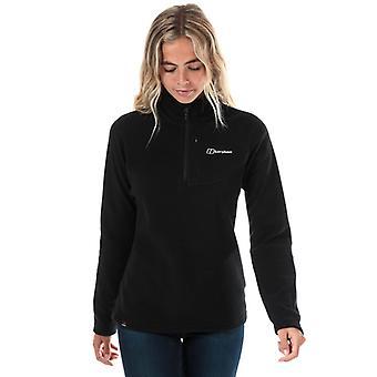 Women's Berghaus Prism Micro Fleece Polartec Half Zip Top i svart