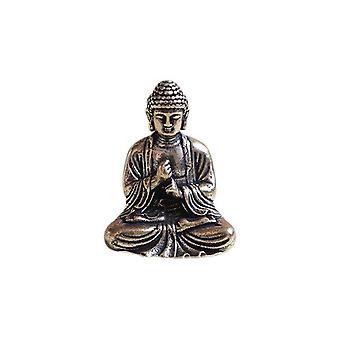 Mini Portable, Vintage Buddha Statue -sitting Sculpture