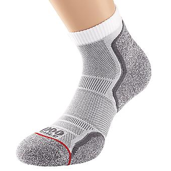 1000 Mile Mens Run Anklet Sock | Twin Pack | Grey|White