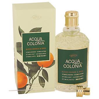 4711 Acqua Colonia Blood Orange & Basil Eau De Cologne Spray (Unisex) By Maurer & Wirtz 5.7 oz Eau De Cologne Spray