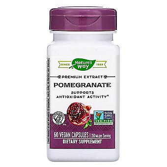 Nature's Way, Premium Extract, Pomegranate, 350 mg, 60 Vegan Capsules