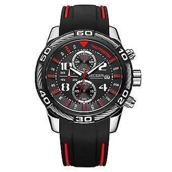 Sportowy zegarek męski i sponowy silikonowy zegarek kwarcowy