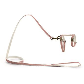 Designed By Lotte Nylon Cat Harness - Virante Light Pink - 10mm x 27-45cm