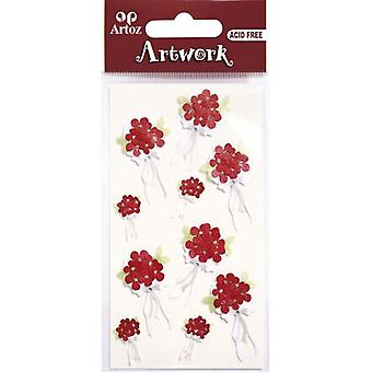 Punainen kukka kukkakimppu Craft Somiste Artoz