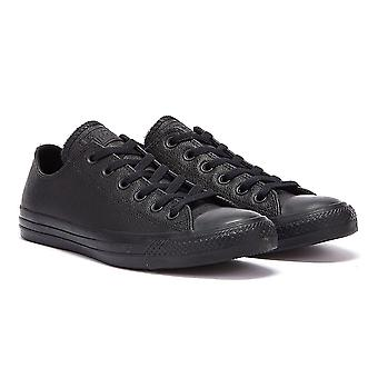 Converse All Star OX Mens Black Leather Trainers