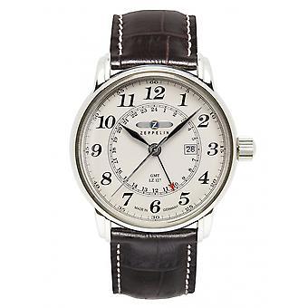 Zeppelin 7642-5 LZ127 Graf Beige Dial GMT Wristwatch