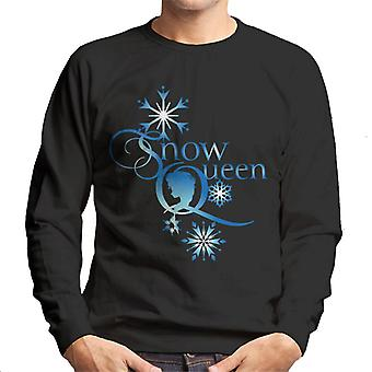 Disney Frozen Snow Queen Lumihiutaleet Teksti Miehet&s Collegepaita