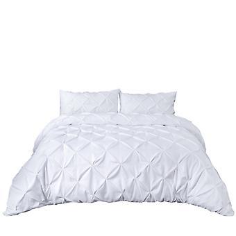 Cubierta de edredón hecha a mano y funda de almohada establece poliéster de microfibra de color sólido para ropa de cama casera establece el tamaño de la UE