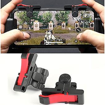 D9 Mobile Game Gamepad Trigger For Pubg Gaming Joystick Buttons (red)