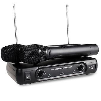 Kädessä pidettävä langaton karaokemikrofoni ja soitin - Kaikumikserijärjestelmä