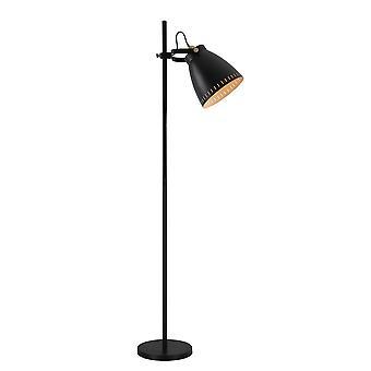 Lampada da pavimento regolabile, 1 x E27, Matt Black, Antique Brass, Khaki