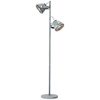 LAMPADA BRILLIANT Carmen Lampada da pavimento 2flg Calcestruzzo grigio 2x A60, E27, 60W, adatto per lampade normali (non incluse) Scala