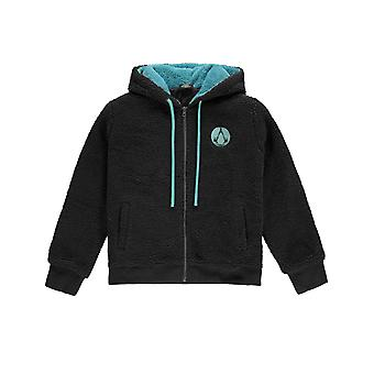 Assassins Creed Valhalla Hoodie Symbol Teddy Style Official Womens Black Zipped