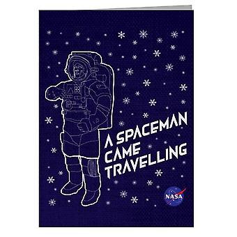 NASA Christmas Avaruusmies tuli matkustavaan onnittelukorttiin