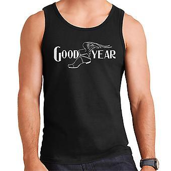 Goodyear Preto e Branco Logotipo Men's Vest
