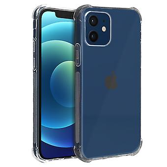 Back Cover iPhone 12 / 12 Pro flexible Shockproof reforced angles Akashi clear