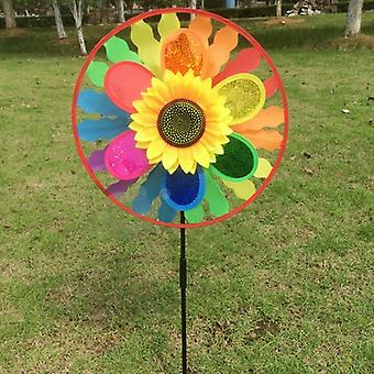 Rainbow Sunflower Wind Spinner And Decoration