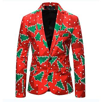 Mens Casual Two Button Single Breasted Blazer