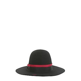 Borsalino 213035blackfuxia Women's Black Wool Hat
