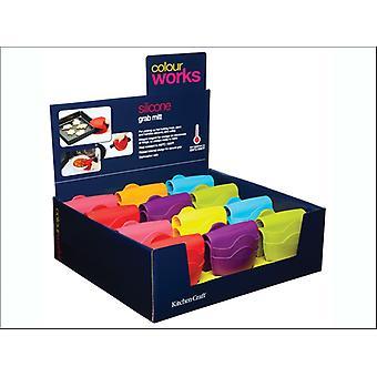 Kitchen Craft Colour Works Grab Mit Assorted CWGRABDISP24
