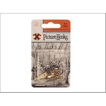 Shaw X No.1 Picture Hooks Small x 5 Blister Packed 12822