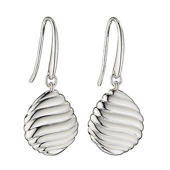 Elemente Silber 925 Sterling Silber Damen Shell Muster Kiesel Tropfen Ohrringe