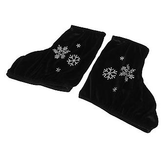 2pcs Ice Figure Roller Skate Boots Shoes Cover Protecting Tool With Snowflake