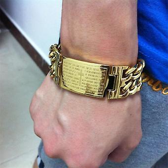 Gold Tone, Stainless Steel-punk Jesus Cross Bracelets