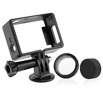Camkix frame mount compatible with gopro hero 4, 3+, and 3 / usb, hdmi, and sd slots fully accessibl