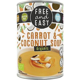 Gratis en gemakkelijk biologische wortel en kokossoep 400g x6