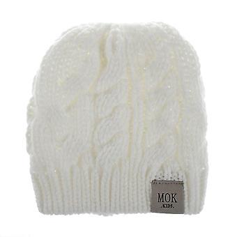 בנות מכתב לסרוג סתיו חורף חם חמוד קוקו כובע שעועית