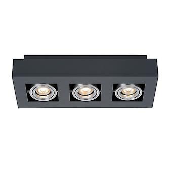 Modern oppervlak gemonteerd zwart aluminium 3 licht, GU10