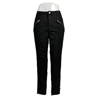 Rachel Hollis Ltd Women's Pants Tapered Leg W/ Zipper Pocket Black A368012