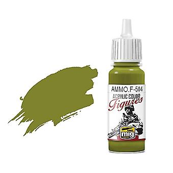 Ammo by Mig Figure Paints F-504 Yellow Green FS-34259