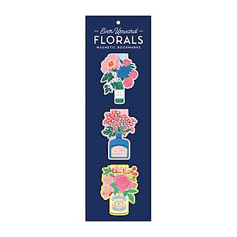 Ever Upward Florals Shaped Magnetic Bookmarks by By artist Emily Taylor & Created by Galison