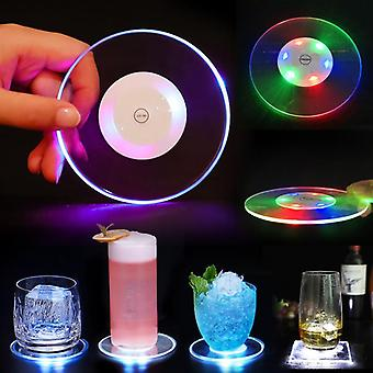 Acrylic Led Light Coaster Cocktail Flash Base