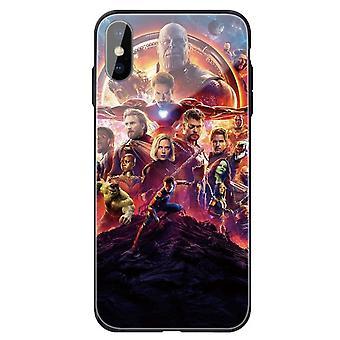 Avengers henkilökohtainen karkaistu lasikotelo Apple iPhone 7 / 8: lle
