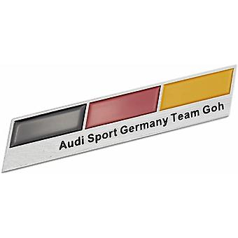 Team Goh Sport Germany Flag German Boot Side Wing Fender Badge Emblem For A1 A3 S3 RS3 S4 RS4 A5 S5 RS5 A6 S6 RS6 A7 S7 RS7 RS8 Q7 Q8 TT R8