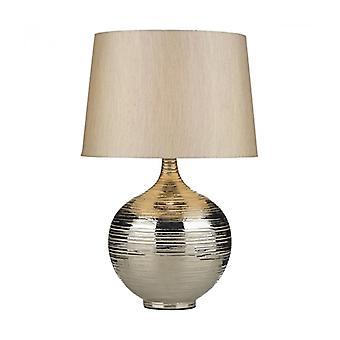 Gustav dekorative Tischleuchte Silber 1 Glühbirne