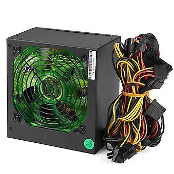 ماكس 800w Pci Sata 220v Atx 12v جهاز كمبيوتر الألعاب إمدادات الطاقة 24pin/ molex/ sata 12cm