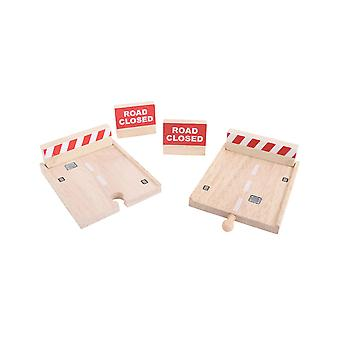Bigjigs Rail Wooden Buffers Set Track Expansion Play Set