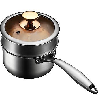 Edelstahl Saucepan, Nicht-Stick Saucepan 2 Quart, Gold