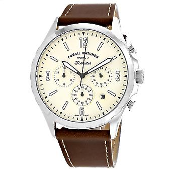 Fossil Men's Forrester Cream Dial Watch - FS5696