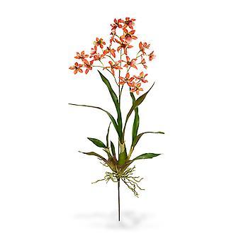Kunst macara orchidee boeket 80 cm oranje