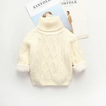 冬のキッズプラスベルベット暖かいセーターコートは、トップスを厚く