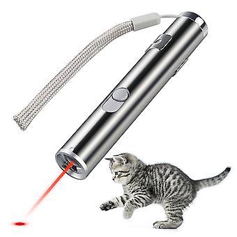 Usb recarregável brinquedos de estimação gato treinamento ponteiro laser com lanterna led