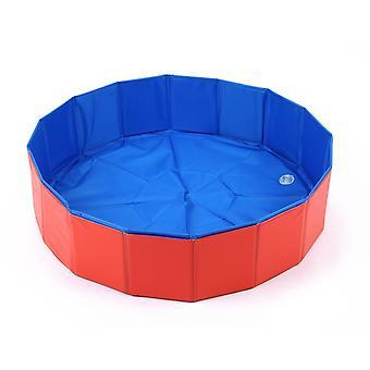 Piscine pliable de bain d'animal familier -piscine pliable de chien piscine de bain d'animal familier pour des chats de chiens