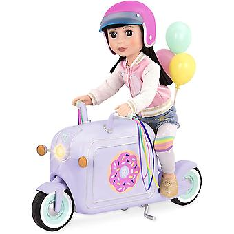 Glitter Girls GG57020C1Z Donut Delivery Scooter, 37 x 15.2 x 33 cmN